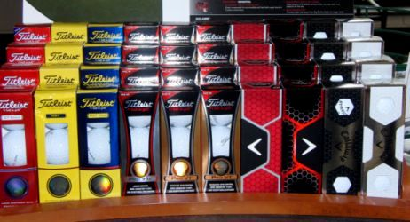 sleeves of golf balls
