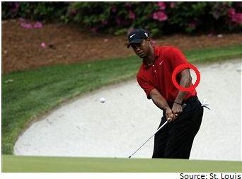 Tiger Woods chip shot
